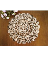 Fennco Styles Handmade All-over Tatting Lace Doily 100% Cotton - Set of ... - $20.78