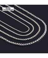 "3.5mm Venetian Round Box Chain Necklace 7""-50"" Long Custom Pick 34"" - $41.57"