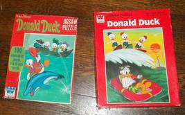 2 Donald Duck 100 Pc Puzzles Whitman Nephews Huey Dewie and Louie - $11.87