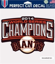 San Francisco Giants 2014 World Series Champions Perfect Cut 8 x 8 Color... - $6.95