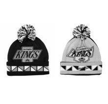 NHL Los Angeles Kings Double Sided Knitted Hat Ski Cap Jacquard Cuff Beanie