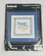 Vintage Janlynn Punto Croce Musica Regalo di Dio 64-10 Cucito - $7.91