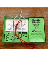 Double Treble Clef Puzzle w/Box Christmas Present Very Good Made in England - $8.90