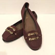 Aerosoles Stitch N Turn Maroon Buckle Flats Loafer Shoes 10 New - $35.00