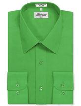 Berlioni Italy Men's Green Premium  Standard Cuff Dress Shirt W/ Defect 2XL image 4