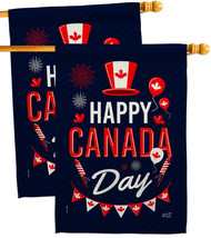 Canada Day - Impressions Decorative 2 pcs House Flags Pack HP137260-BOAE - $59.97