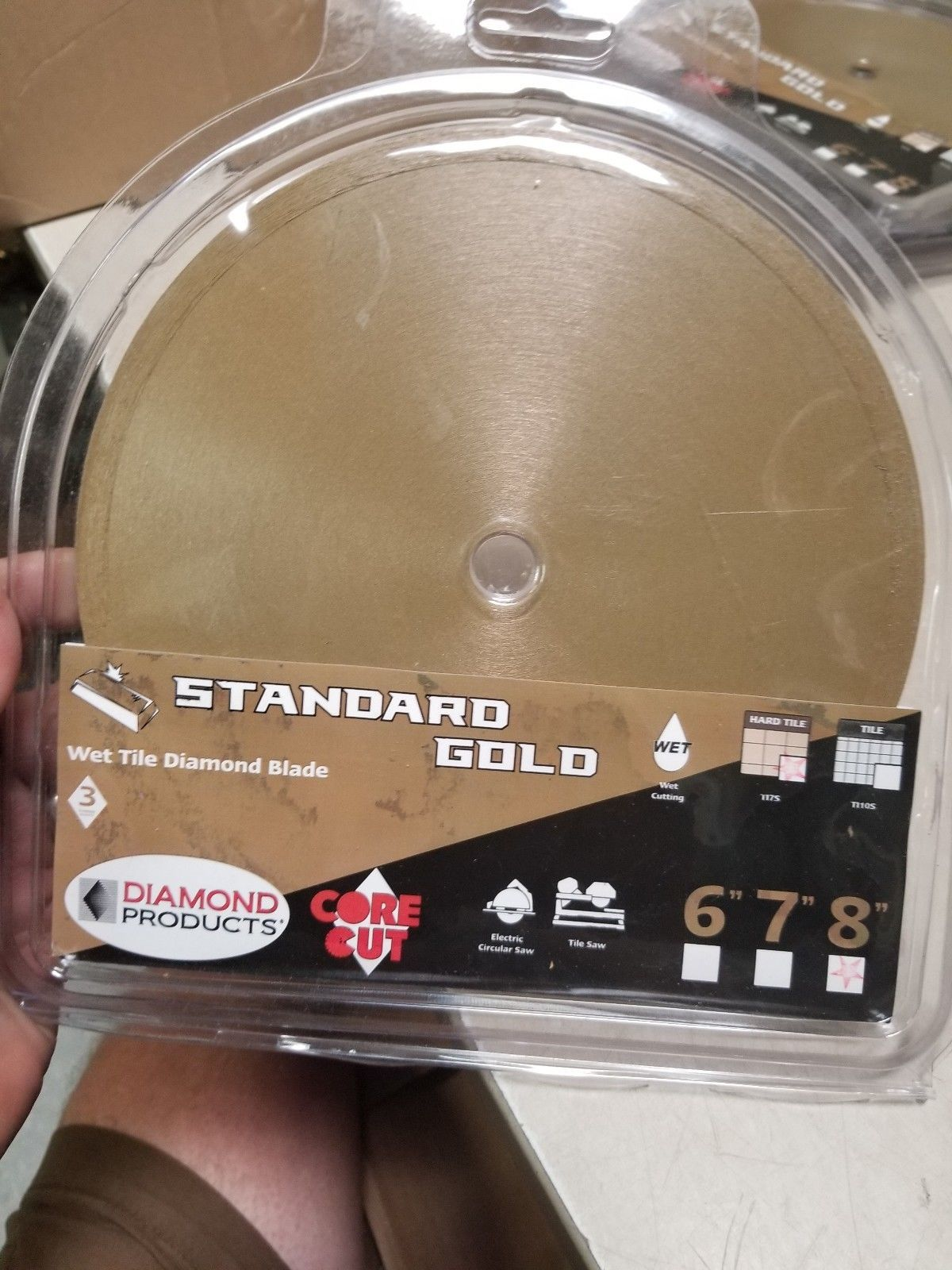 Primary image for Diamond Products Core Cut 12377 8-Inch by 0.060 Standard Gold Wet Tile Blade
