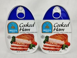 Bristol Cooked Ham 2ct 16oz Each Water & Smoke Flavoring Added Exp 04/2025 - $13.10