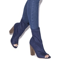 New Shoedazzle Jean Open toe ankle boots - $35.00