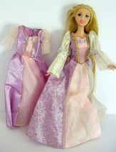 2009 Mattel Barbie Tangled Rapunzel Doll With Bend Knees And Extra Dress... - $15.00