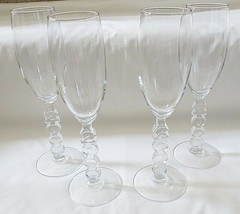 Crystal d'Arques Millennium Pattern Champagne Glass Set of 4 - $12.82