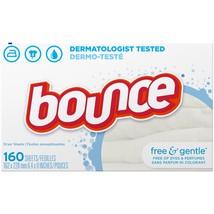 Bounce Dryer Sheets, Free & Gentle, 160 Sheets | canonicalUrl: /ip/Bounc... - $16.31
