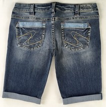 New SILVER Jeans Sale Buckle Low Rise Tuesday Denim Jean Stretch Shorts 32 - $34.97