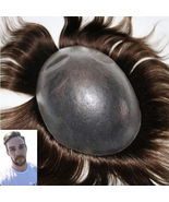 Super Thin Skin 0.10-0.14mm Stock Men's Hair  Handmade Hairpieces Replac... - $129.30