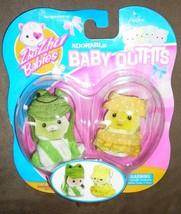 Zhu Zhu Babies Adorable Baby Outfits 2Pack Frog Yellow Polka Dots - $7.91