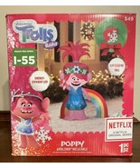Poppy Christmas Airblown Inflatable Trolls Poppy Gemmy 5 ft Tall Porch G... - $66.78