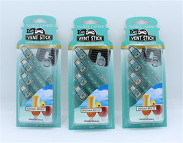 x3 Yankee Candle Bahama Breeze Vent Sticks Air Car Freshener Design - $14.98