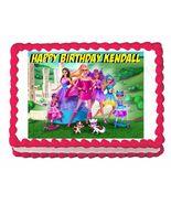 Barbie in Princess Power Edible Cake Image Cake Topper - $8.98+