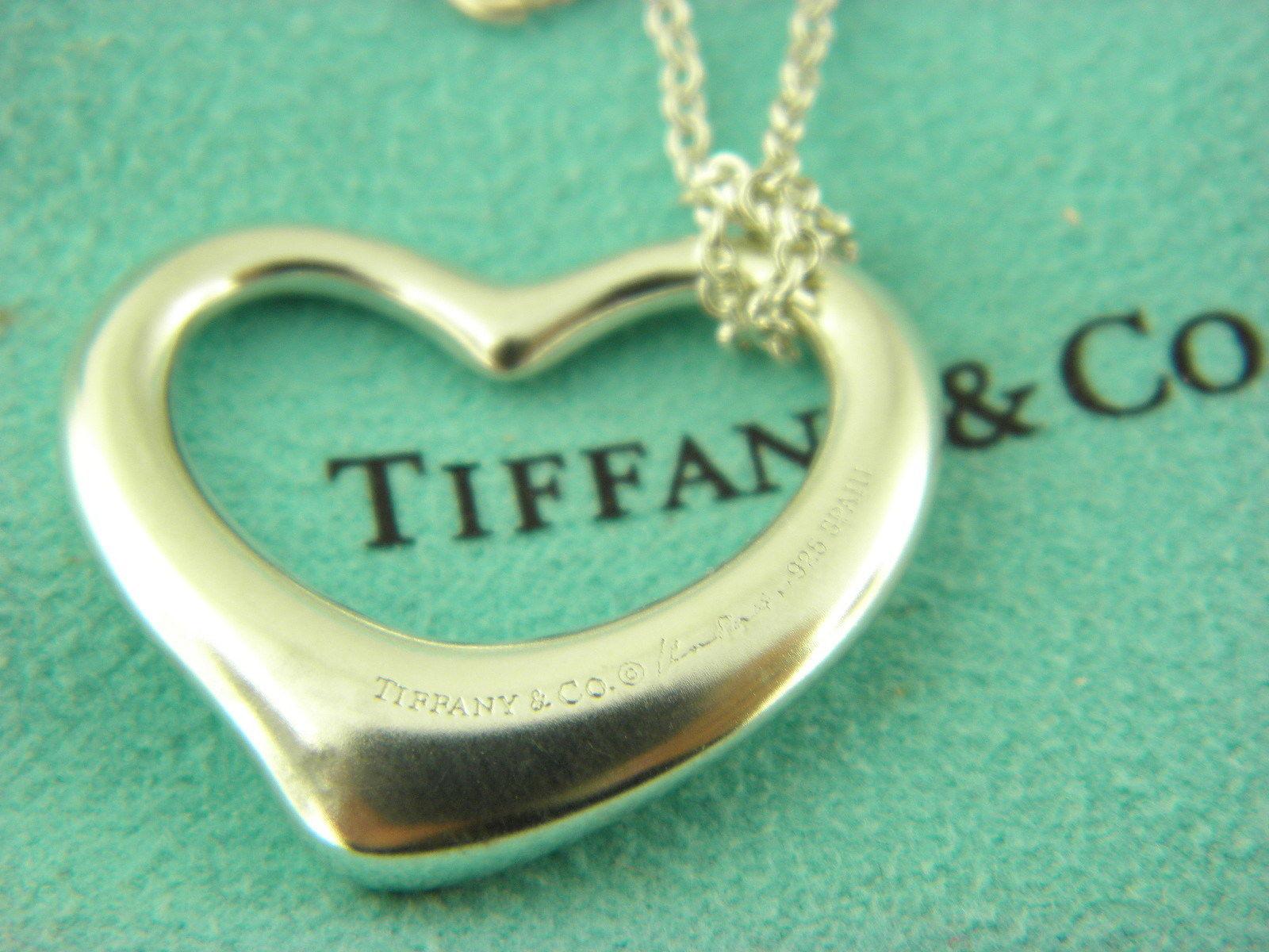Tiffany co elsa peretti necklace 2 customer reviews and 40 listings tiffany co elsa peretti open heart pendant necklace in sterling silver 28611 aloadofball Gallery