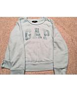 Girl's Gap Kids Long Sleeve Sequin Logo Aqua Sweatshirt (S) - $7.70
