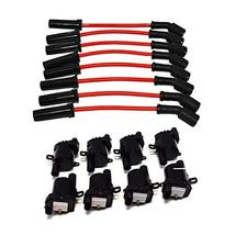 "A-Team Performance D585 Ignition Coils & 11"" 8.0mm Spark Plug Wires Compatible W"