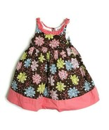 Maggie & Zoe Girls Size 2T Easter Floral Dress Pink Blue Green Ruffle Trim - $13.06