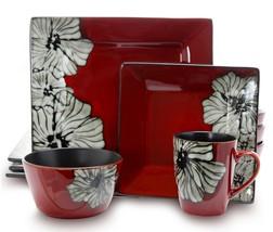 Elama Winter Bloom 16-Piece Dinnerware Set - $86.08