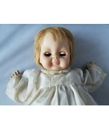 Vogue Dolls 1960's Vintage Baby Doll Blonde Hair Green Eyes White Dress Toy - $278.99