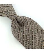 PARSOWS MADE IN SPAIN NARROW BEIGE Gray STRIPED PURE Silk Men Necktie I4-282 Tie - $15.83