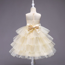New Arrival Pricess Yellow Short Flower Girl Dress Lace Formal Party Gow... - £29.59 GBP