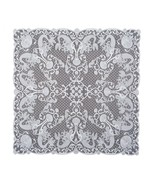 """Mermaid White Lace Table Topper Tablecloth 42"""" Square Undersea Theme Mad... - $34.49"""