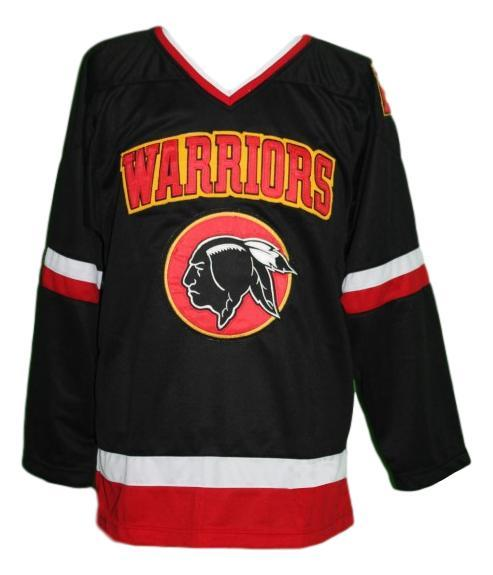 Any Name Number Eden Hall Warriors Retro Hockey Jersey Black Banks Any Size