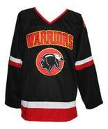 Custom Name # Eden Hall Warriors Retro Hockey Jersey Black Banks #99 Any... - $54.99+