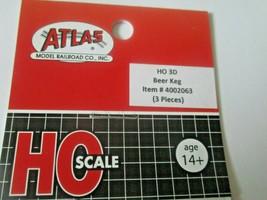 Atlas # 4002063 Beer Keg 3 Pieces 3D Printed Accessories HO Scale image 2