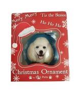 "White Poodle Dog Shatterproof 3"" Ball Ornament  E&S Pets CBO-28 Holiday ... - $8.75"