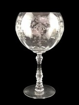 Fostoria Navarre Etched Clear Glass # 6106 Magnum Balloon Wine USA 16 Oz... - $84.11