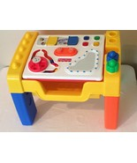 Fisher Price Activity Center Busy Box Block Reversible Top Toddler Table Blocks - $29.99
