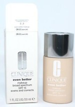 Clinique Even Better Makeup Spf 15 Cn 0.5 Shell Full Size 1 Oz/30 Ml - $22.00