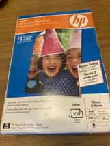 HP Premium 4x6 Inkjet Glossy Photo Paper 100 Sheets, NEW, sealed - $9.59