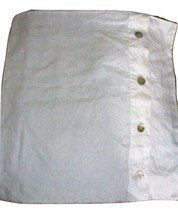 Pottery Barn 1 Solid White Linen Euro Sham With MOP Shell Buttons - $34.62