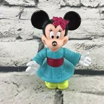 """Disney Minnie Mouse Figure Epcot Center Kimono Robe 3.5"""" Toy - $7.91"""