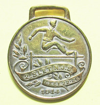 "Watch fob: 1914, ""2.Slet N.J.S., Ce'Ce 22-26"". FOB is brass. - 377 - $18.81"