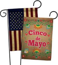 Suzani Cinoco de Mayo - Impressions Decorative USA Vintage - Applique Garden Fla - $30.97