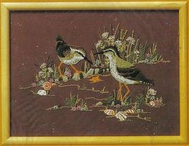"""Vintage 1983 Creative Circle Sandpipers Crewel Embroidery KIT  12"""" x 16"""" - $16.99"""