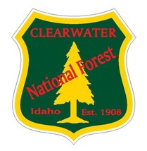 Clearwater National Forest Sticker R3216 Idaho You Choose Size - $1.45+