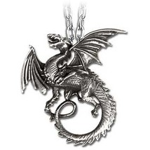 Pewter The Whitby Wyrm Pendant Necklace - $41.95