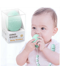 Dino Eggie Baby Teether Egg Teething Pain Relief Toy & Rattle 2M+ Mint G... - $10.95