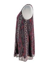 Abercrombie & Fitch Women's Wine Purple Boho Print Sleeveless Swing Dres... - $14.85