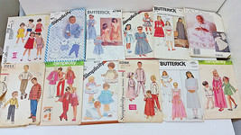 Large Mixed Lot of 12 Vtg Sewing Patterns Kids SIMPLICITY Misc Boys Girls Babies - $24.66