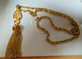 Vintage CROWN TRIFARI Tassel Pendant Necklace  - $34.65